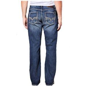 BKE TYLER Jeans Distressed Whiskered Sandblasted